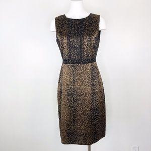Elie Tahari | Silk Leopard Print Sheath Dress